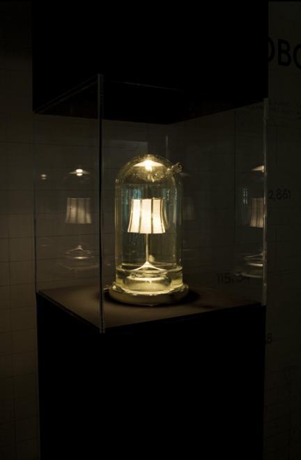 Half Life , 2010 Glass vitrines, lamp base 1...