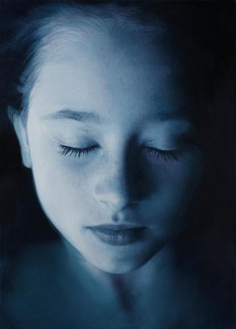 Payton Blue 2, 2010 Oil & acrylic on canvas 69 3/4...