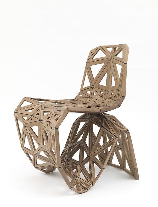 Maker Chair (Polygon), 2014 Oak 31.5 x 23.62 x 25....