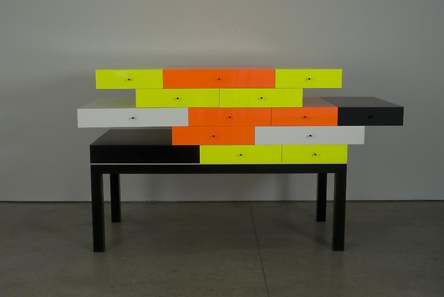 Omaggio 1, 2007 Corian and wood 49 1/4 x 85 1/4 x...