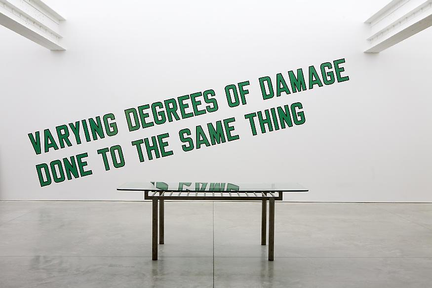 Lawrence Weiner [American, b. 1940] Varying Degree...