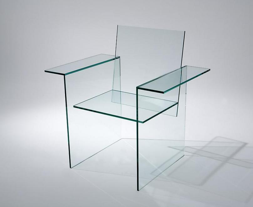 Glass Chair, 1976 Glass 34.65 x 35.43 x 23.62 inch...