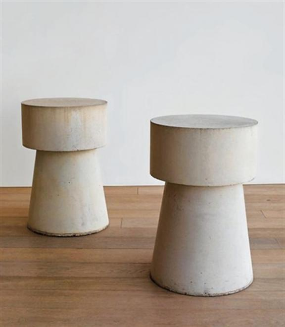 Scott Burton [American, 1939-1989] Two concrete en...