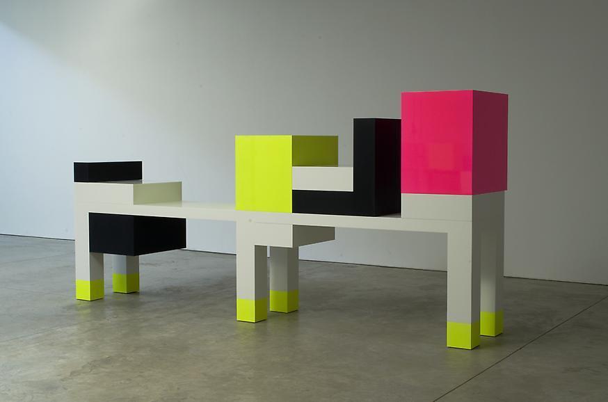 Omaggio 5, 2007 Corian and wood 59 1/4 x 126 x 23...