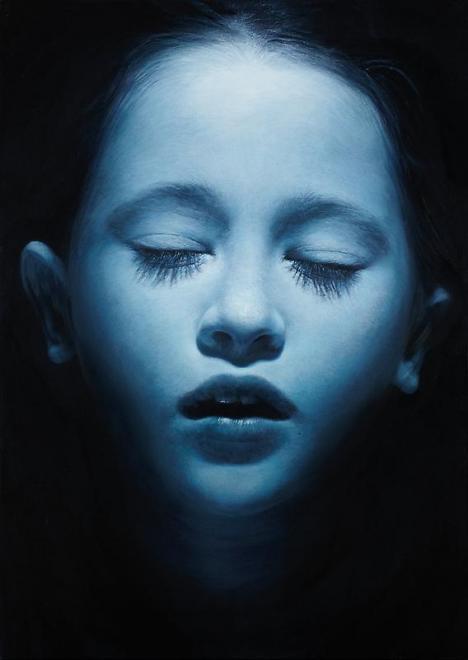 Payton Blue 1, 2010 Oil & acrylic on canvas 69 3/4...