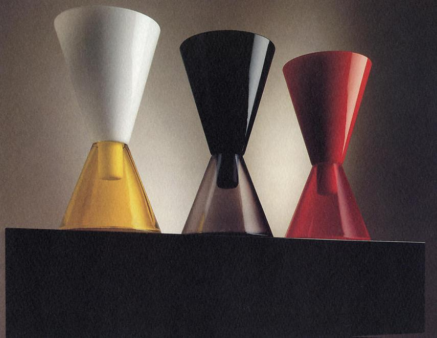 "No. 29, 1994 Blown glass vases with base in ""noir..."