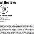 The Power 100: Ai Weiwei