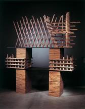 Cabinet no. 79, 2006 Zebra wood 91.34 x 83.86 x 20...
