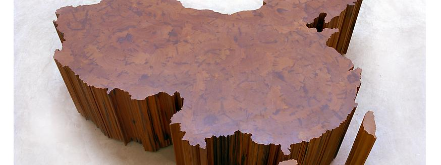Map of China, 2004 Tieli wood from dismantled temp...