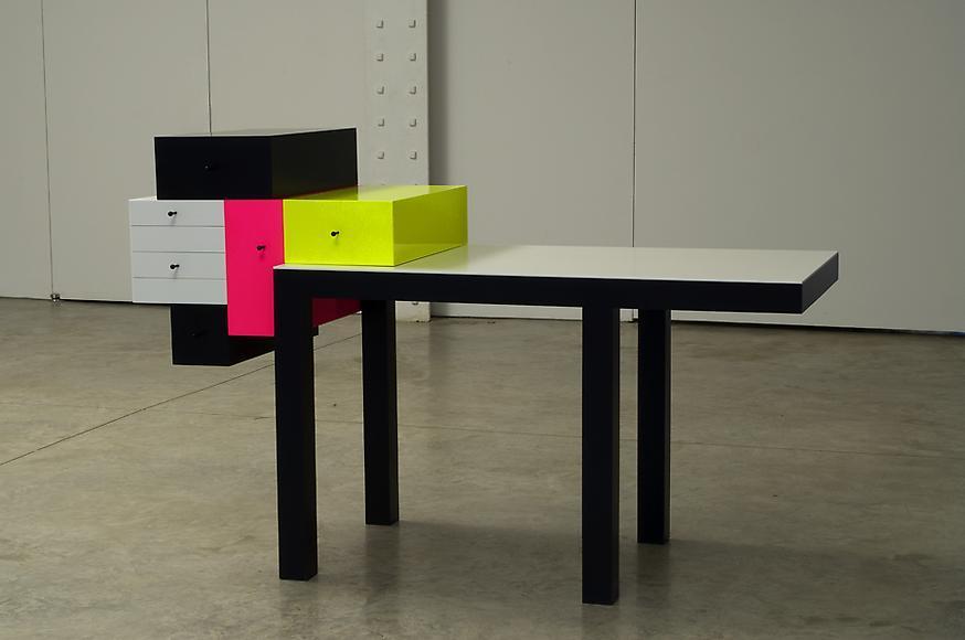 Omaggio 4, 2007 Corian and wood 41 1/8 x 64 1/8 x...