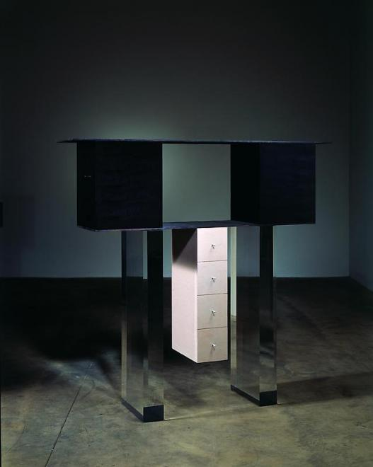 Cabinet no. 73, 2006 Wood, acrylic and aluminum 64...