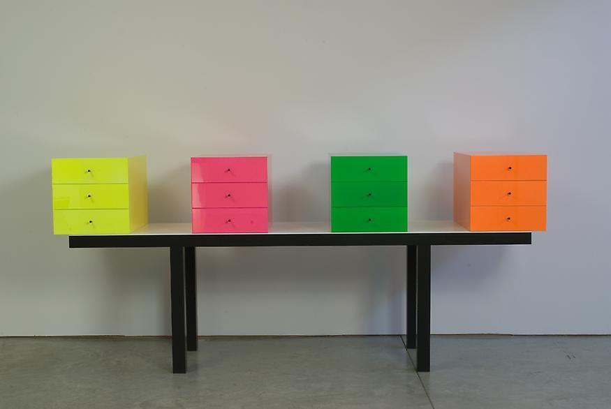 Omaggio 6, 2007 Corian and wood 45 3/8 x 102 x 23...
