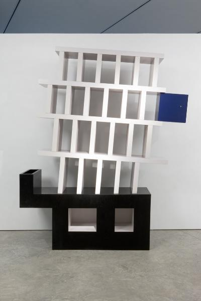 Cabinet No. 16, 1994 Bookcase in laquered Ash and...