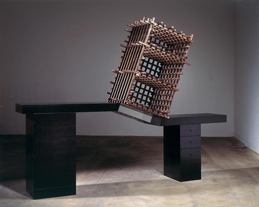 Cabinet no. 70, 2006 Ebonized pear wood, acrylic,...