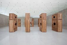 Moon Chest, 2008 Huanghuali wood 8 pieces 320 x 16...