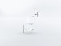 Manga Chair 14, 2015 Stainless Steel 47.5 x 24 x 2...