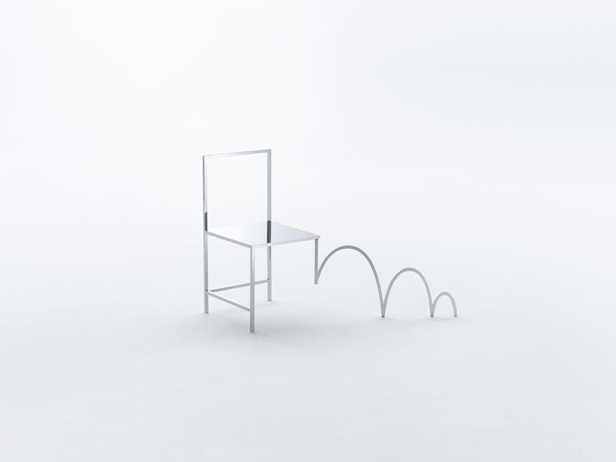 Manga Chair, 2015 Stainless Steel 32 x 35.5 x 37.7...