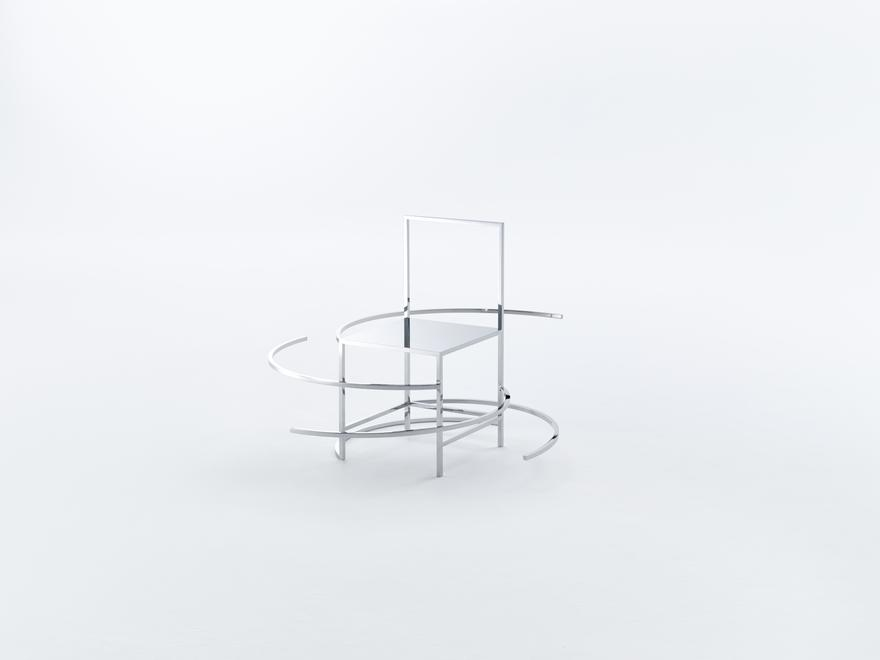 Manga Chair 43, 2015 Stainless Steel 51 x 45.75 x...