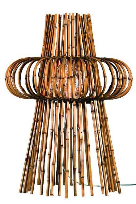Nave table lamp Bamboo lamp, diffuser in diamond c...