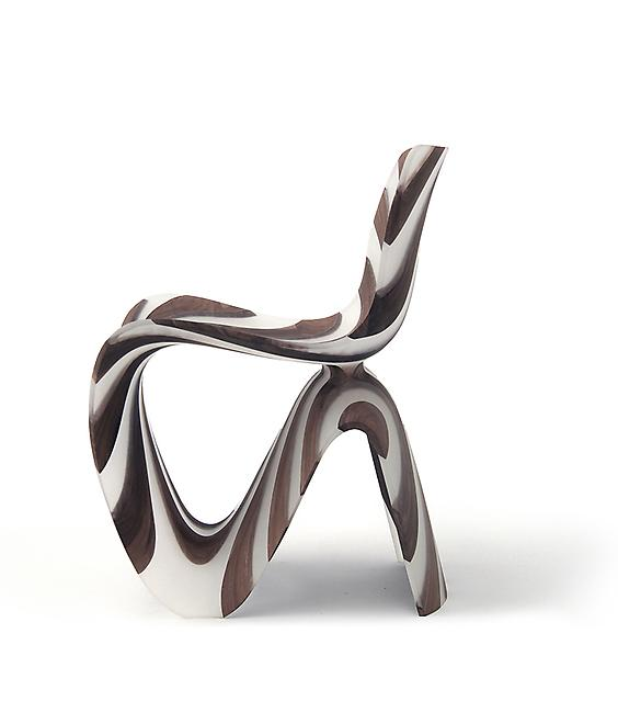 Maker Chair (Diagonal), 2014 Resin and walnut 31.5...