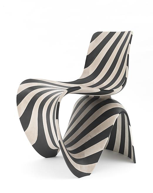 Maker Chair (Diagonal Wood), 2014 Black and white...