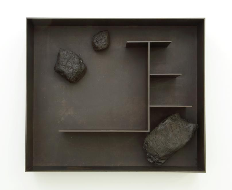 Stones 2A, 2011 Stones and patinated aluminum 47.2...