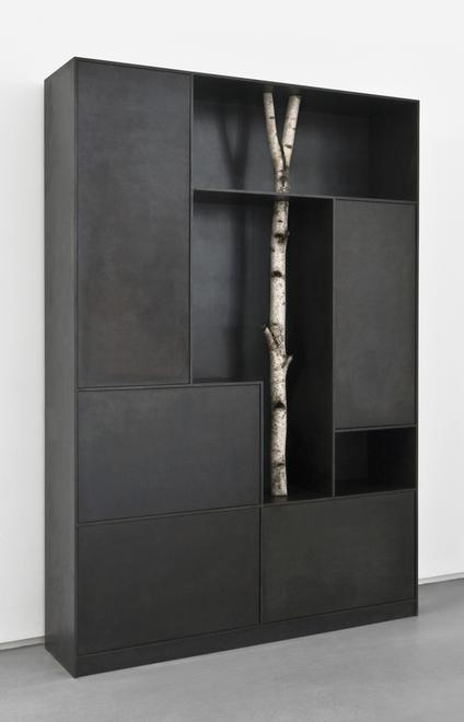 Tree 8, 2010 Patinated aluminum 80.71 x 55.12 x 13...