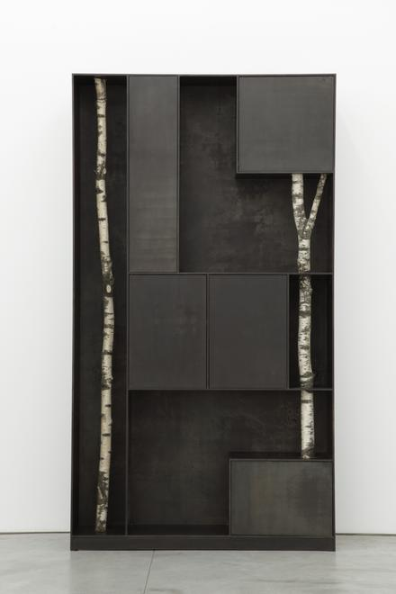 Tree 9, 2010 Patinated aluminum 99.21 x 55.12 x 13...