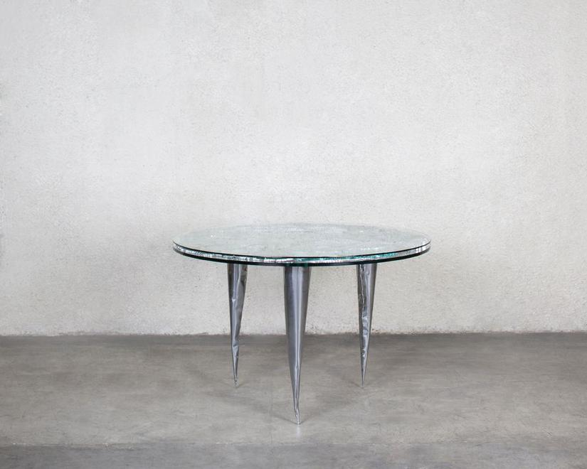 Deep Table, 1987 Glass, honeycomb aluminum and mil...