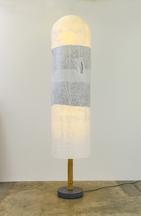 Lamp, 2014 Japanese rice paper, bamboo, Belgian Bl...