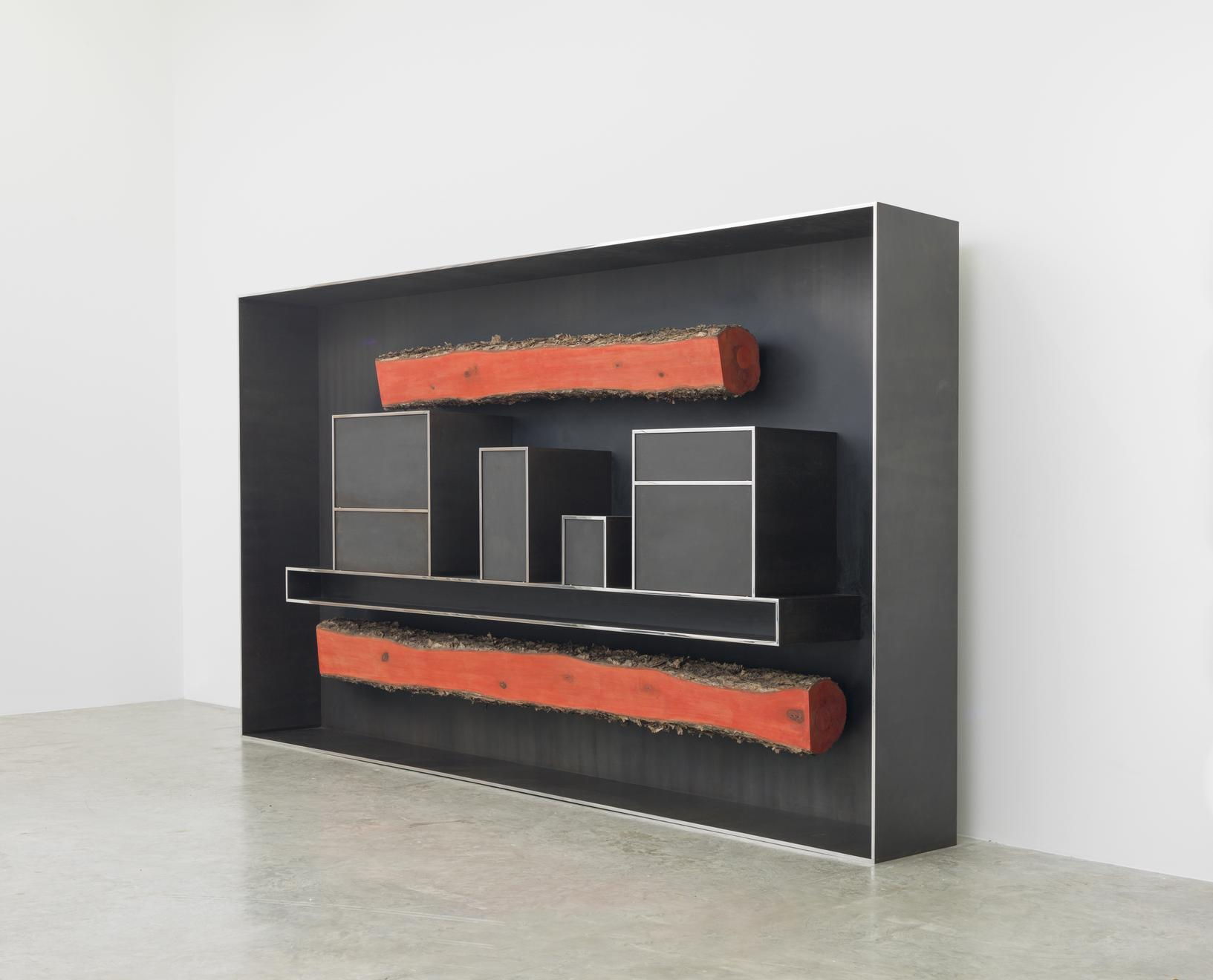 Plank Cabinet 1, 2014 Patinated and polished alumi...
