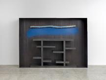 Plank Cabinet 2, 2014 Patinated and polished alumi...