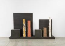Plank Cabinet 8, 2014 Patinated and polished alumi...