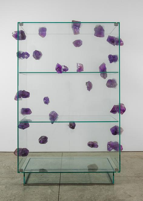 Amethyst Cabinet, 2013 Glass and amethyst 64.57 x...