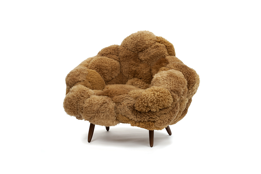 Bolotas Armchair (Brown), 2015 Sheep's wool an...