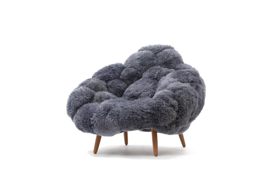 Bolotas Armchair (grey), 2015 Sheep's woo...
