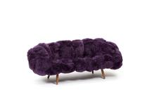 Bolotas Sofa (Aubergine), 2015 Sheep's wo...