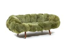 Bolotas Sofa (Pistachio), 2015 Sheep's wo...