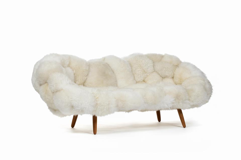 Bolotas Sofa (White), 2015 Sheep's wool and Ip...
