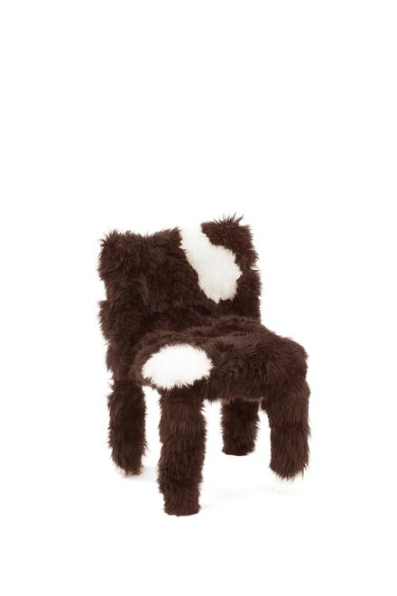 Chica Chair, 2017 Sheep's wool over plastic ch...