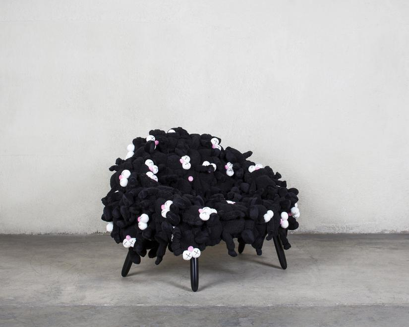KAWS and Estudio Campana KAWS Chair Black, 2018 Pl...