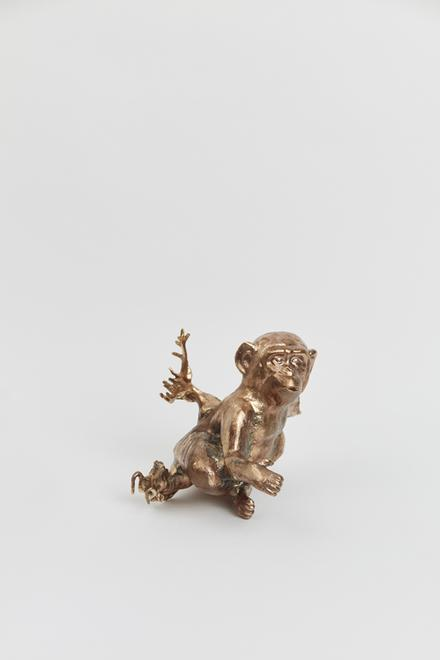 Monkey Vase, 2019 Cast bronze 4 x 7.25 x 7 inches...