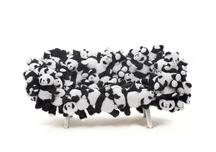 Panda Sofa, 2015 Stuffed panda toys hand sewn on c...