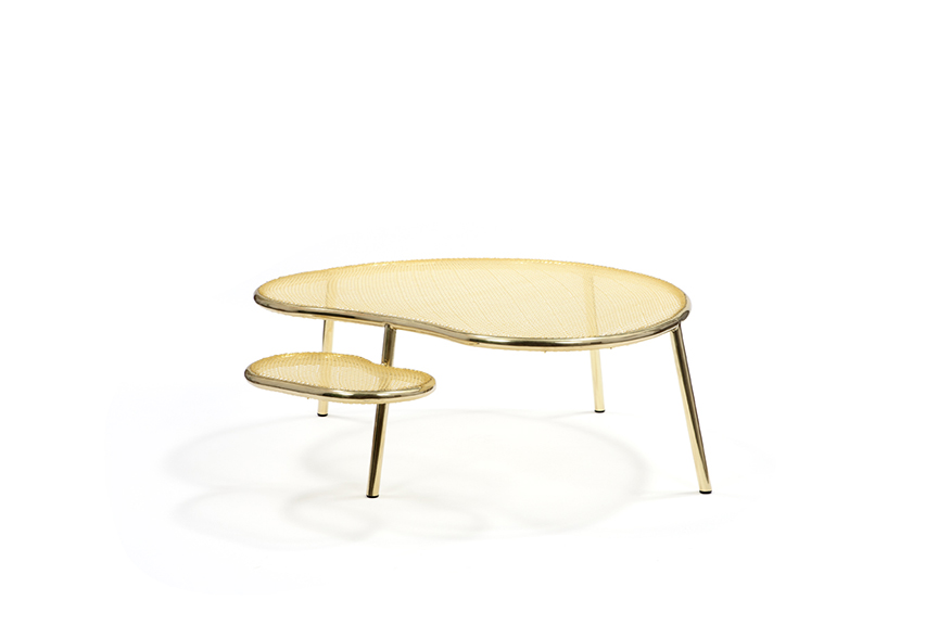 Racket Table (Animal), 2013 Woven nylon and brass...
