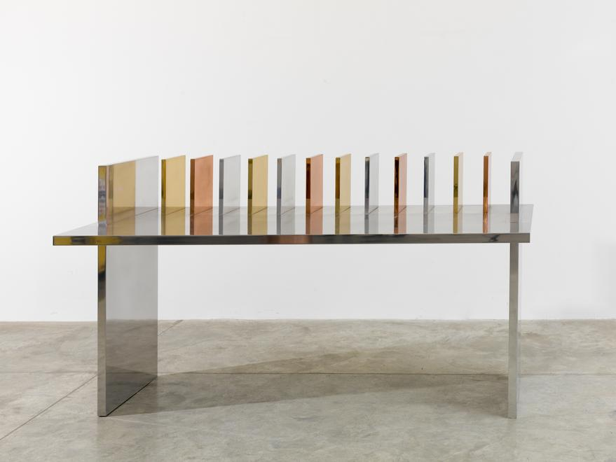 Freeze Desk, 2015 Aluminum, steel, brass and coppe...
