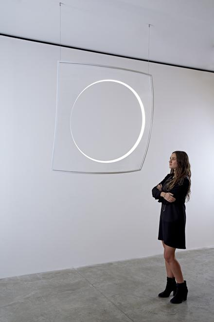 Hole Light, 2015 Cast Acrylic 47.25 x 47.25 x 1.25...