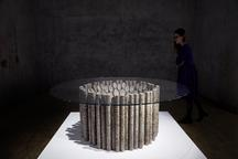 Sliced Core Table, 2017 Concrete brick and glass 2...