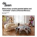 "Misha Kahn unveils jeweled tables and ""Animated"" c..."