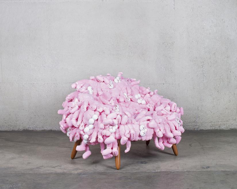 KAWS and Estudio Campana KAWS Chair Pink, 2018 Plu...