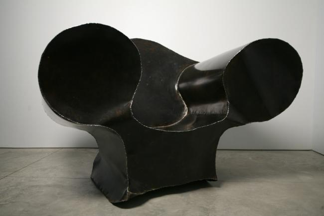 Big Easy, 1989 Patinated steel 40.125 x 55.375 x 4...